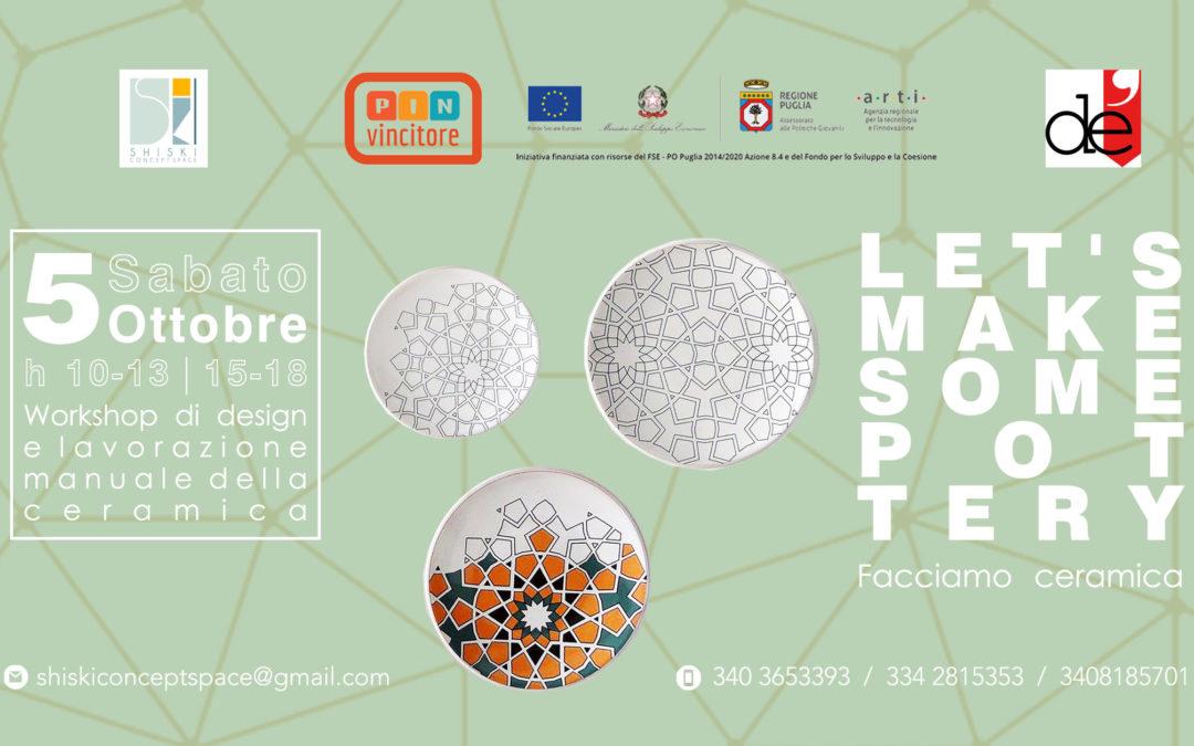 """Workshop """"Facciamo ceramica!"""""""