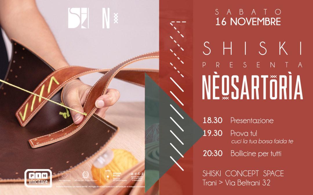 SHISKI presenta NEOSARTORIA